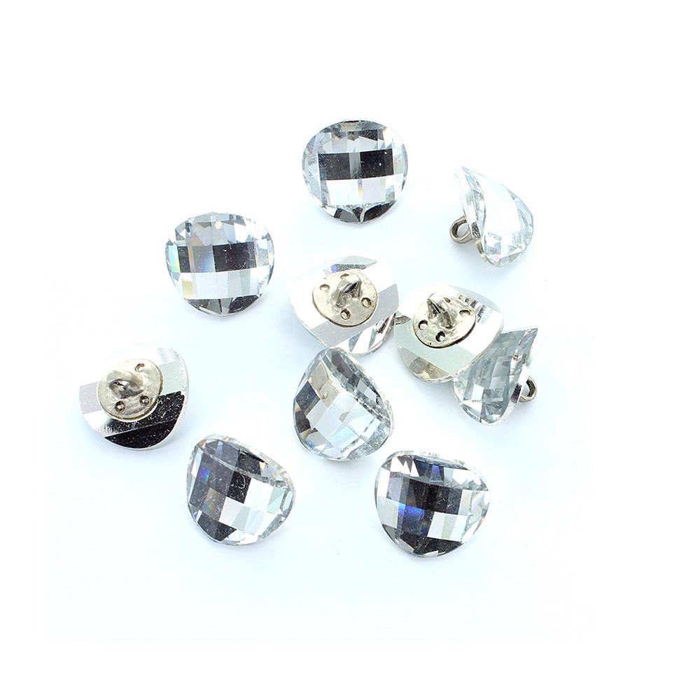 Swarovski 14mm crystal button with chessboard effect price - Swarovski crystal buttons ...