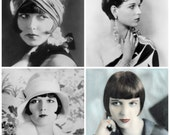 LOUISE BROOKS ziegfield girl A4 Photo Print from vintage photograph by Alfred Cheney Johnston of Ziegfield Follies Fame