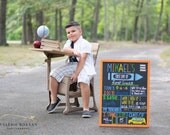 """First Day of School Reusable Chalkboard Sign, 17x23"""" Framed, handpainted back to school sign"""