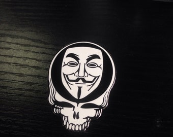 Steal Your Fawkes Grateful Dead Anonymous Hat Pin