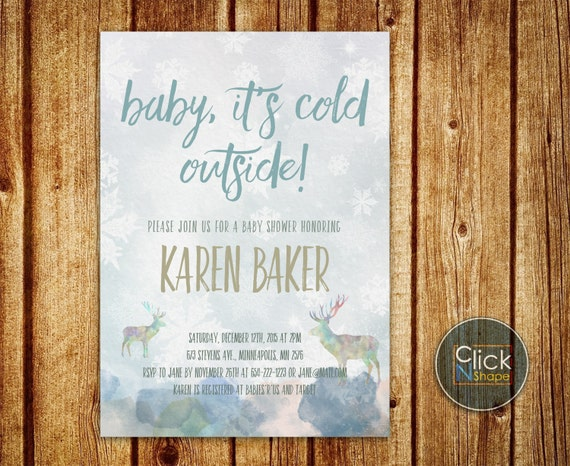 Baby It's Cold Outside Invitation // Winter Baby by ...