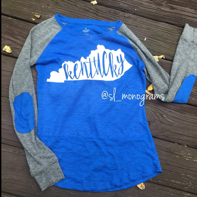 Design your own t shirt louisville ky - Kentucky Elbow Patch Long Sleeve