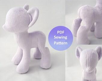 PlanetPlush Minky Pony Sewing Pattern