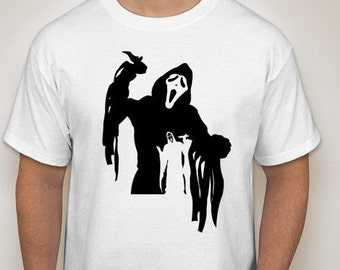 Movie Maniacs: Ghost from Scream Silhouette T-Shirt