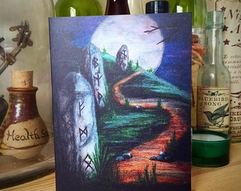Rune Stones Greeting Card