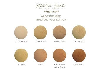 Aloe Infused Mineral Foundation - Cosmetics - Makeup - All Day Coverage - Long Lasting - Women - Cover Up - Face - Beauty Care - Powder