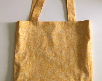 Yellow Swirls Tote Bag