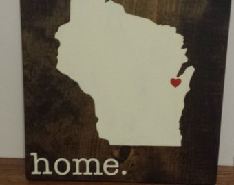 Wisconsin Wood Sign State Sign Custom Wood Sign Pallet Sign Personalized Wood