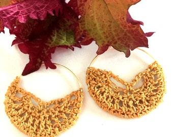 Crochet Hoop Earrings Pattern