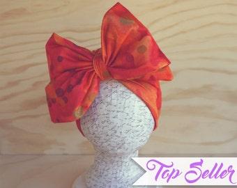 Orangesicle Sunday Bow Turban
