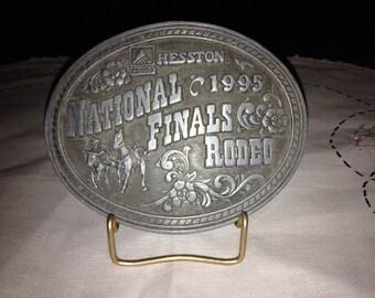 Vintage Hesston 1995 National Finals Rodeo Belt Buckle