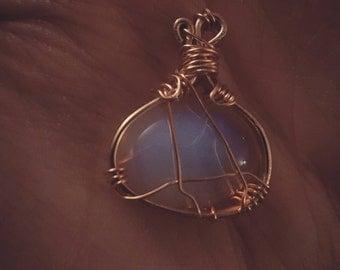 Wirewrapped Opalite Necklace
