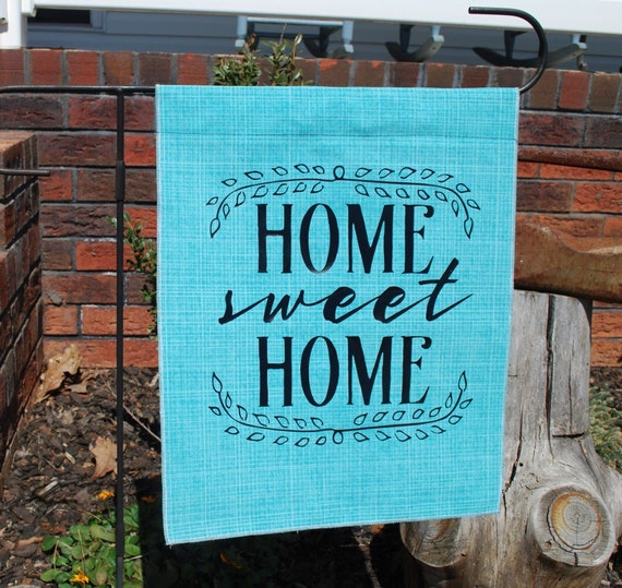 Home sweet home decor garden flag welcome banner spring for Patriotic welcome home decorations