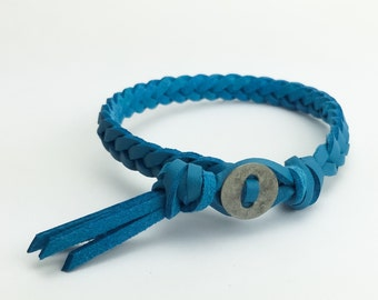 Aromatherapy Essential Oils Vegan Leather Braided Diffuser Bracelet | Turquoise Blue | Faux Suede