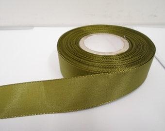 8mm 15mm 25mm 40mm Rolls, Dark Olive Green Taffeta ribbon, 2 metres, Double sided,