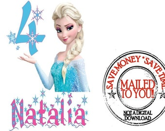 Disney Frozen Personalized/ Custom Birthday Iron On Transfer