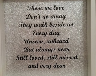 Those we love dont go away frame