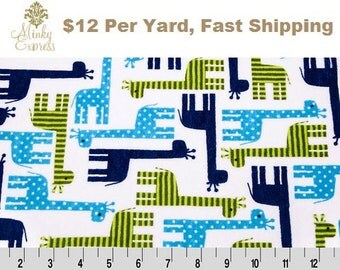 Minky Fabric By the Yard. Rkc Giraffe Cuddle Midnight Minky at Wholesale Prices