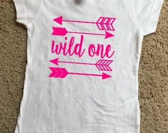 Youth Girls Wild One Short Sleeve Shirt