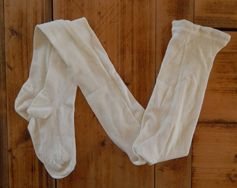 Soviet Vintage Pantyhose Kids Cotton Pantyhose White Tights New Old Stock Unused  Made in USSR  in 1980 s