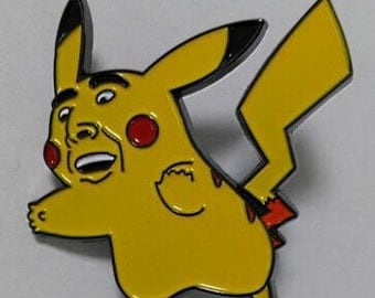 Pikacage, pikachu nic cage hat pin