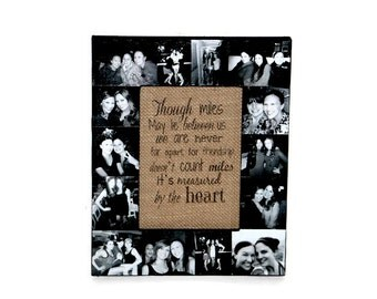 best friend picture frame picture frame collage girlfriend gift boyfriend gift anniversary gift best friend frame maid of honor gift