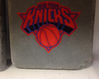 New York Knicks Garden Stone, basketball, sand blasted and hand painted in Pennsylvania stone, unique