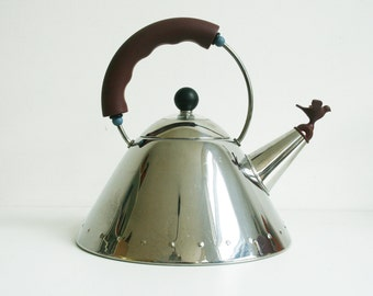 Alessi Kettle Michael Graves Italy tea 9093 inox