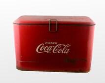 articles populaires correspondant coca cola cooler sur etsy. Black Bedroom Furniture Sets. Home Design Ideas