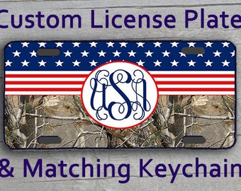 Custom Monogrammed Personalized License Plate By