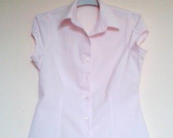Vintage Pink shirt,Vintage Cotton shirt,Pink shirt,dressy blouses,Ladies Blouses,tunic,Cotton blouse, Ladies top Dolly Topsy night