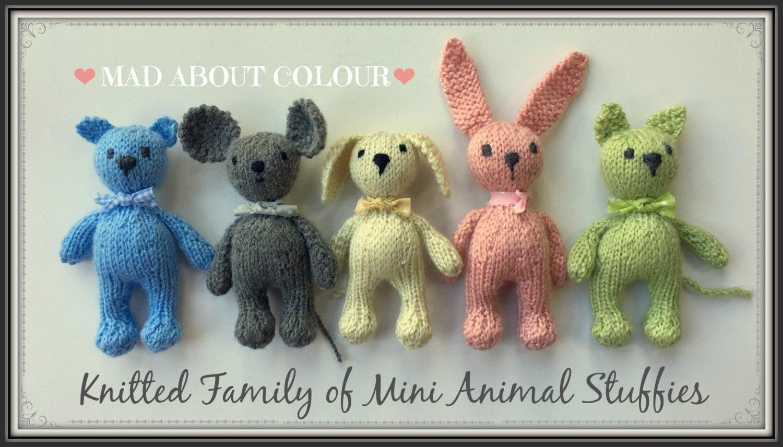 Mini animal stuffies knitting pattern small teddy bear bunny zoom bankloansurffo Gallery