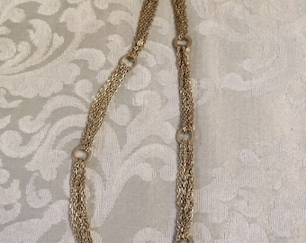 Vintage Gold Chain, Gold Link Necklace, Multi Strand Chain, Matte Gold Necklace, Vintage Chain, Vintage Jewelry, Vintage Necklace