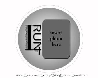 "IR4 ""I Run 4"" (Design 4) - 3 Inch Button"