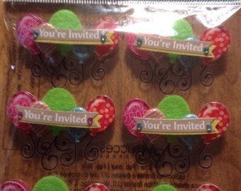 You're Invited sticker lot