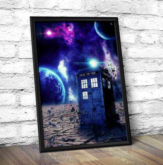 Doctor Who Poster - Doctor Who Inspired Tardis Time Travel Poster -  Geek Wall Art - Dr.Who