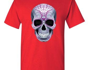 Mens Tshirt -Sugar Skull Tshirt -Skull Tshirt -Sugar Skull -Calavera -Day Of The Dead -Scary Tshirt -Mens Shirt -Tshirt -Shirt -Tee