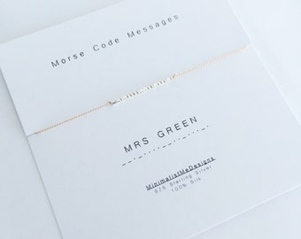 CUSTOM BRIDE - Morse Code Bracelet