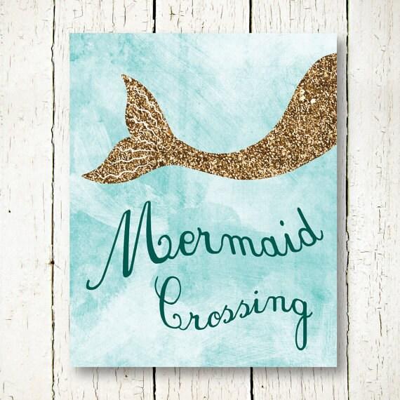 Mermaid Wall Art mermaid printable gold glitter wall art mermaid poster