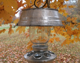 Galvanized Washtub Bird Feeder