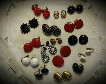 Jewelry Destash Clip On Earrings Lot 16 Pairs