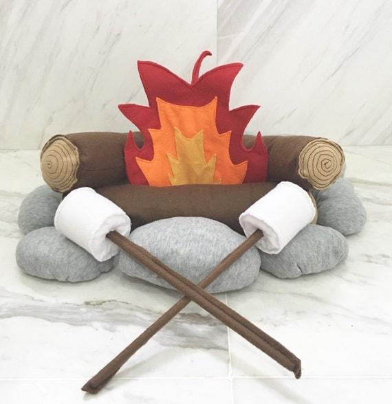 The 'Happy Camper' Felt/Plush Campfire Set for Kids.