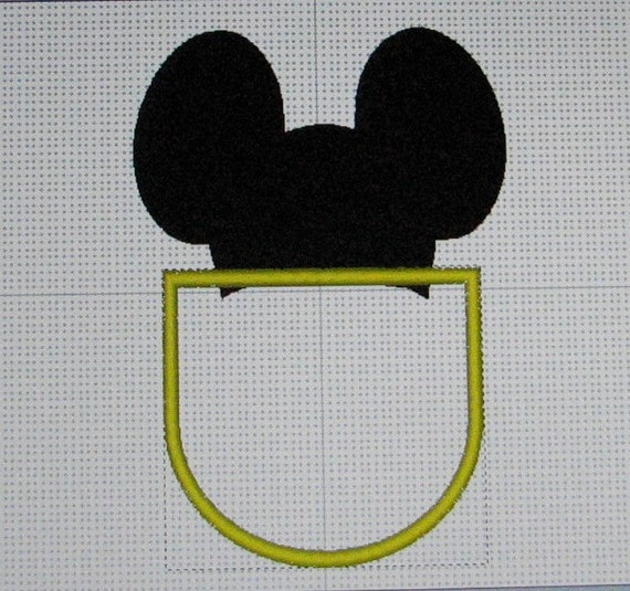 Mickey Mouse Pocket Embroidery Designs