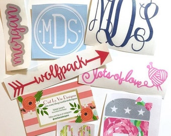 Personalized Mini Swag Bag Decal Stickers