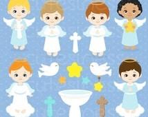 50% DISCOUNT SALE Angel Digital Clipart, Angel Clipart, Angel Clip Art, Angel Boy Clipart, Angel Boy Clip Art, Baptism Clipart, Angel Baptis