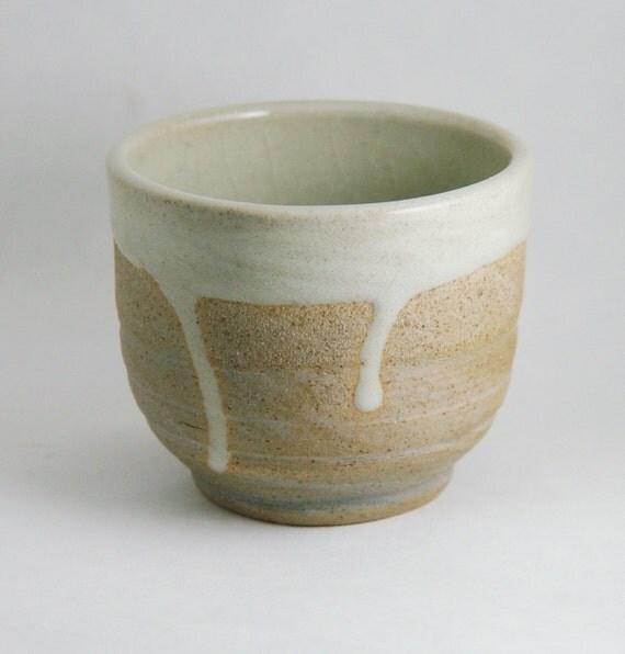8 oz ounce unique coffee mug tea cup handleless wheel thrown - Handleless coffee mugs ...