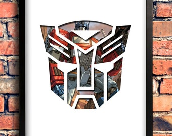 Transformers - Optimus Prime Logo Art