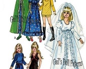 """Vintage Copy of 15-1/2"""" Teen Doll Wardrobe Simplicity 9698"""