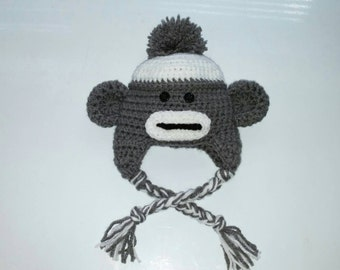 Sedric the sock monkey hat