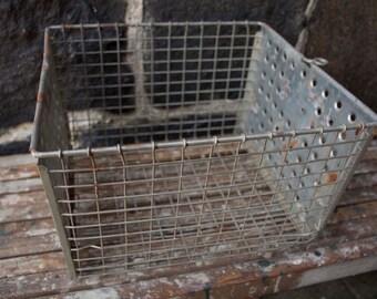 Vintage Metal Crate/Industrial Crate